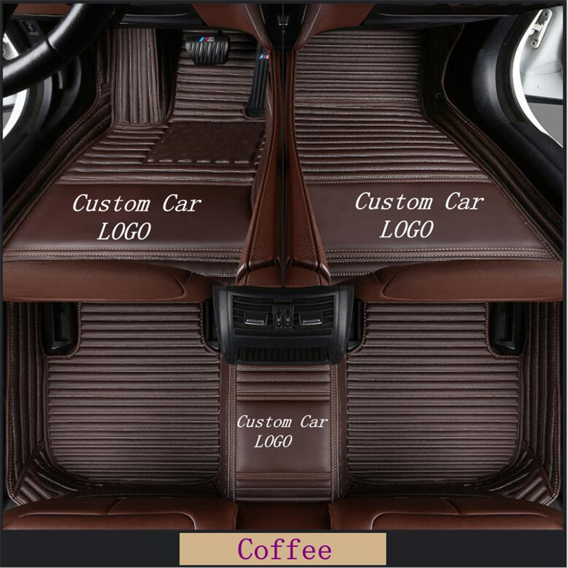 NEW Fit for Tesla X 2016-2018 leather Car Floor Mats Waterproof Mat Pad  Custom Auto Foot Pads