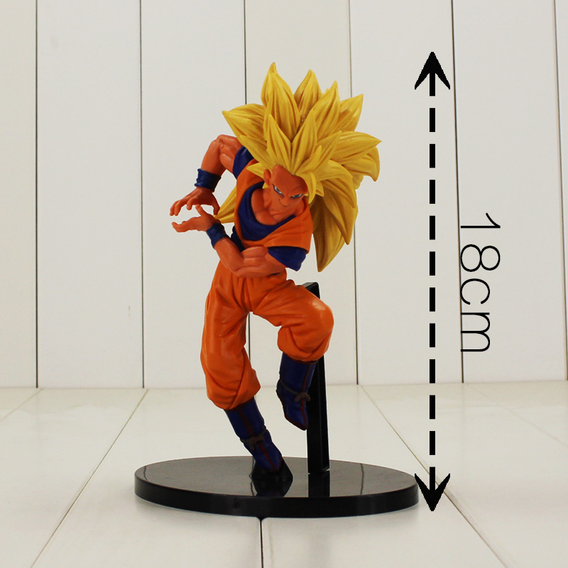 1pc Bodukai BIG SCultures Dragon Ball Z Super Saiyan 3 Son Sokou Goku PVC Action Figure Collectible Model Toy