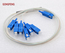 GONGFENG 10PCS New Connector Single Mode 0.9mm Fiber 1:6 Optic Splitter PLC Micro Steel tube Special Whoesalel