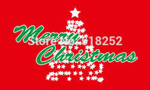 MERRY CHRISTMAS TREE Flag 3×5 FT 150X90CM Banner 100D Polyester flag  brass grommets 085, free shipping