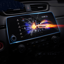 7 inch GPS Navigation Screen Steel Protective Film For Honda CR-V CRV 5th 2017 2018 Control of LCD Screen Sticker  Car Styling qcbxyyxh car styling gps navigation screen glass protective film for lexus nx 200 nx200t nx300 control lcd screen car sticker