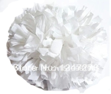 pom pom free fast shipping cheerleader pom pom 1,000* 3/4″ wide streamers*6″ sizes plastic white