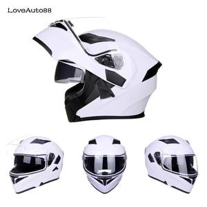 Image 2 - Полный мотоциклетный шлем профессиональный гоночный шлем мотоциклетный взрослый Кроссовый внедорожный шлем унисекс доступный в горошек одобренный