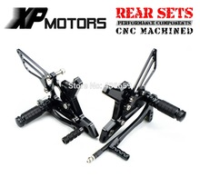 Black Race CNC Foot Control Kit Adjustable Foot Pegs Rear Sets For Kawasaki Z 750 Z750