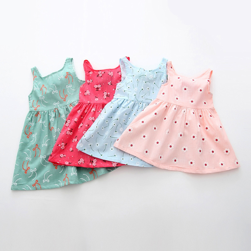 Baby Clothing Floral-Dress Bebe Cherry Outfit Girl Infant Casual Print for Vestido Menia title=