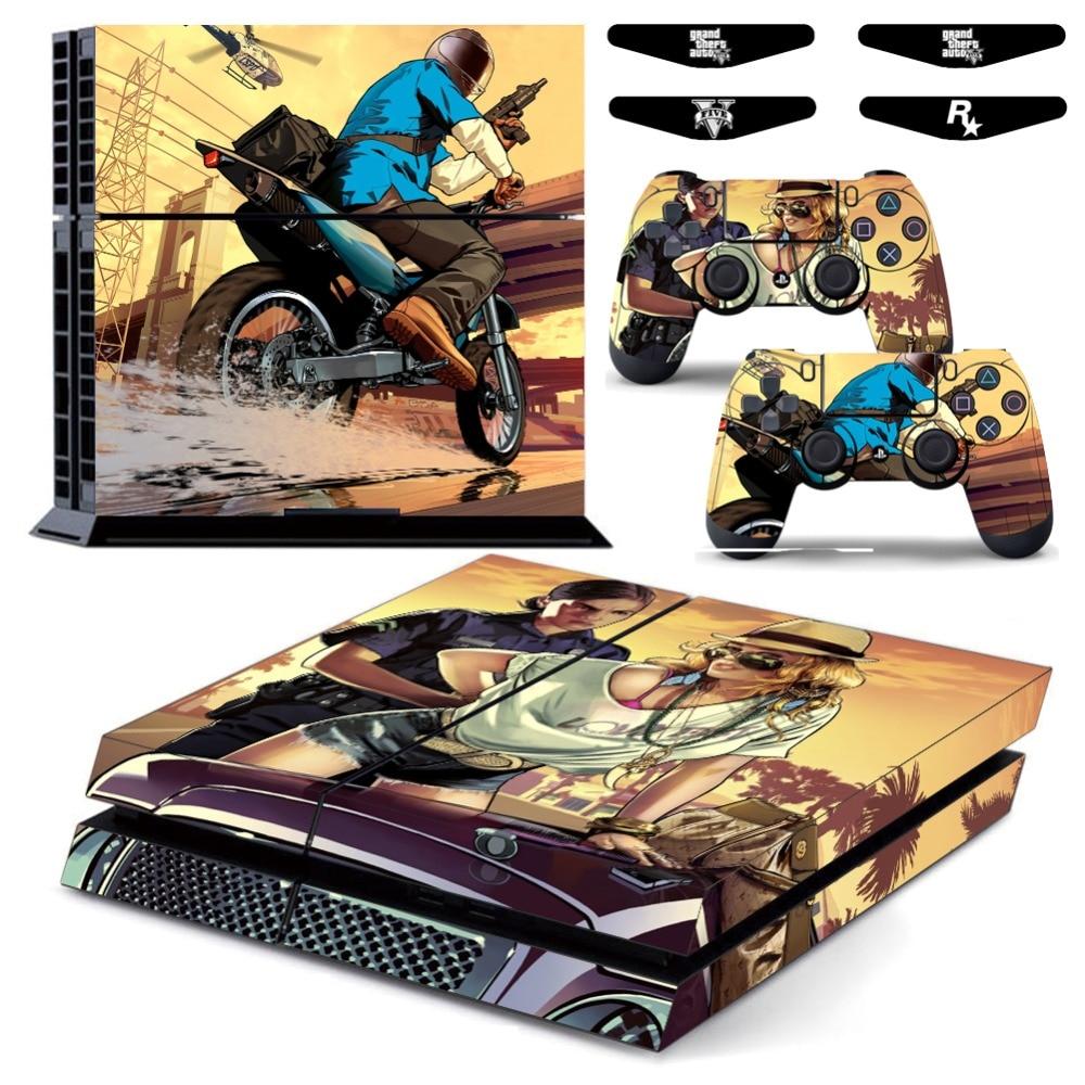 Gta Grand Theft Auto V 5 Ps3: Grand Theft Auto V GTA 5 PS4 Vingl Skin Decal Sticker Case