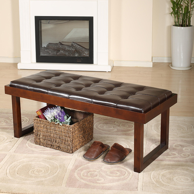 Online Shop solid wood bed bench for bedroom furniture Ottoman ...