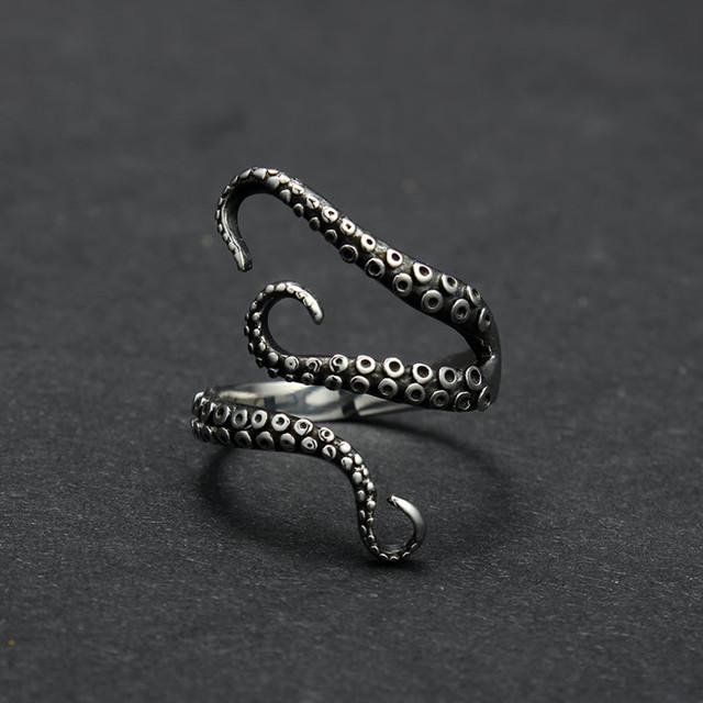 Gothic Titanium Adjustable Ring