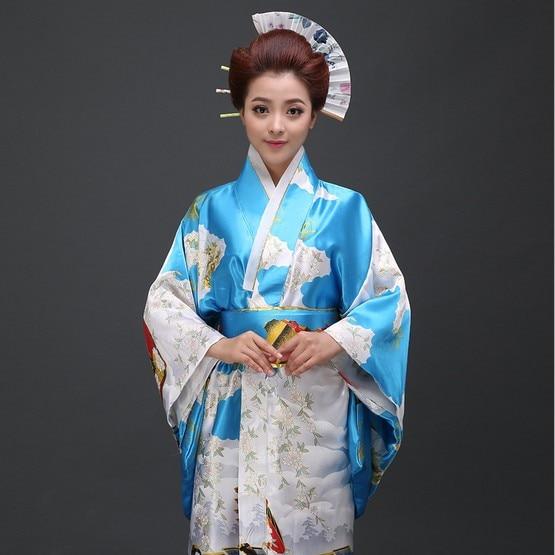 Mode 3 färg Japansk Kimono Vintage Yukata Japansk Haori Kimono Obi - Nationella kläder - Foto 2