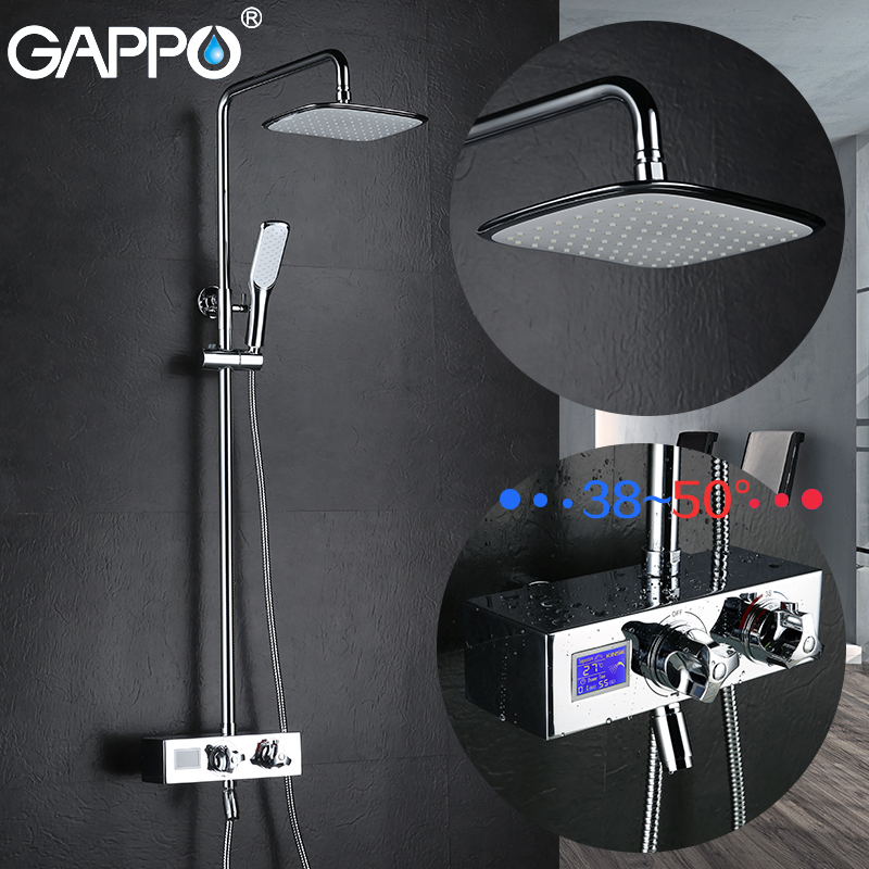 GAPPO смеситель для ванны смеситель для душа Термостатический кран Водопад латунный Смеситель для ванны Водопад смеситель для воды кран griferia