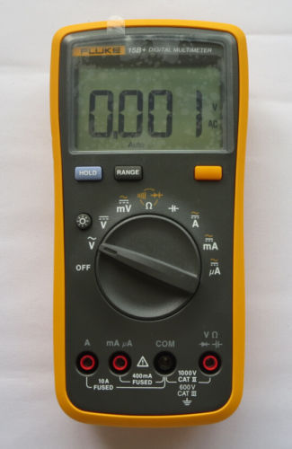 100% Original FLUKE 15B+ F15B+ Auto Range Digital Multimeter Meter DMM  цены