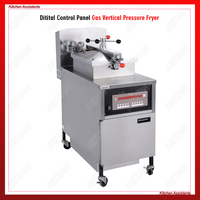 PFG800 Commercial Gas Henny Penny Style Chicken Pressure Deep Fryer for KFC kitchen with Oil Filter System Oil Pump