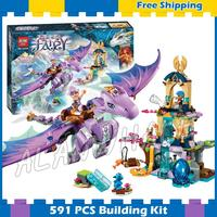 591pcs Elves The Dragon Sanctuary Cherry Tree Princess Elf 10549 Model Building Blocks Fairy Gifts sets Compatible with Lego