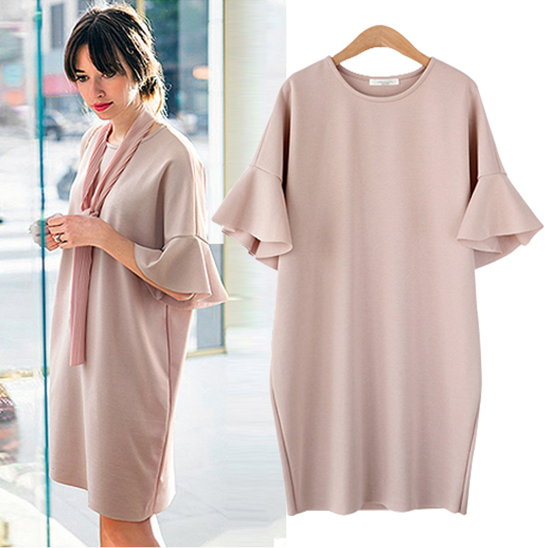 3c07bdc26d6 Maternity clothing summer plus size plus size maternity dress medium-long  loose short-sleeve one-piece dress maternity no scarf