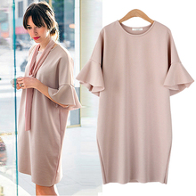 Maternity clothing summer plus size plus size maternity dress medium-long loose short-sleeve one-piece dress maternity  no scarf