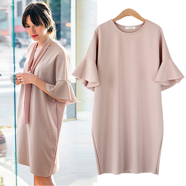 327ca06cc4b9b Maternity clothing summer plus size plus size maternity dress medium-long  loose short-sleeve one-piece dress maternity no scarf