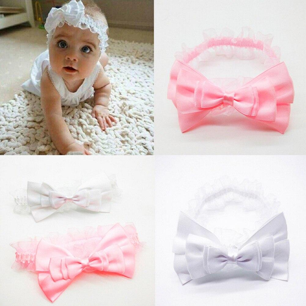 New Trendy Style Chidren Headband Kids Bow Turban Big Bow Headwrap Solid Bow Headband Drop Shopping