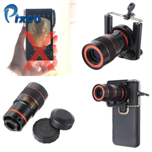 Best price Generic 8X U clip Optical Zoom Telescope Camera Lens Clip Mobile Phone Telescope For iPhone for Samsung for HTC for Huawei