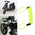 150 cm Verde Segurança Anti Ladrão Motocicleta Freio A Disco Roda saco do fechamento do alarme e lembrete primavera cabo