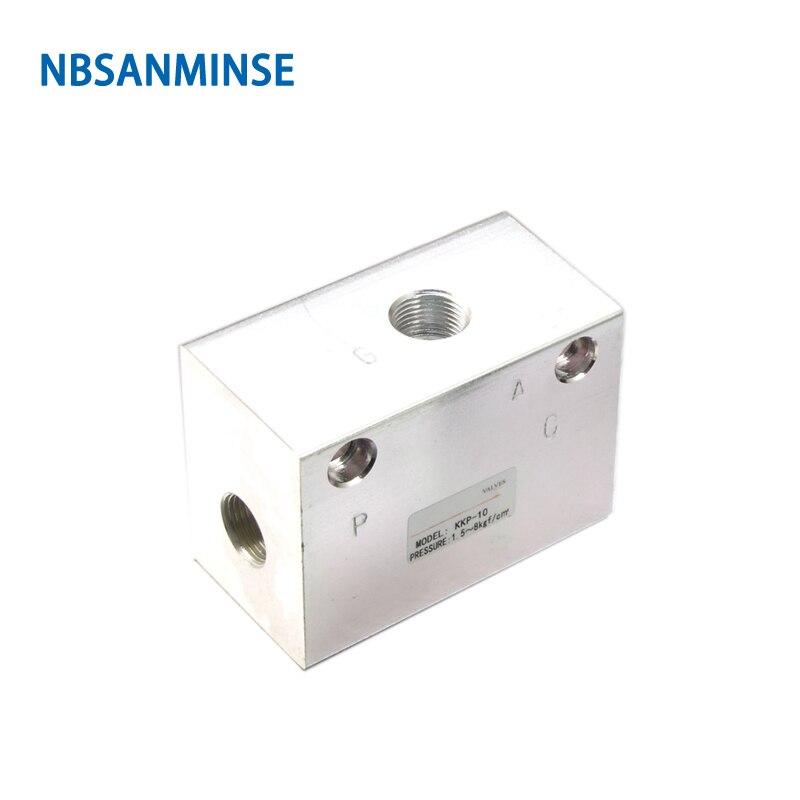 Nbsanminse Kkp Quick Exhaust Valve 1/8 1/4 3/8 1/2 3/4 1 1 1/4 1 1/2 2 Pneumatic Mechanical Valve  Aluminum Air Valve