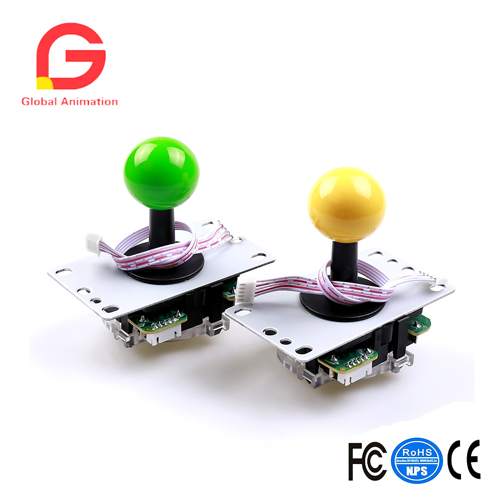 Zero Delay Pc Arcade Game DIY Parts Kit 2X 8Way Joystick 16X Chrome Illuminated Arcade Button Support All Windows Systems in Coin Operated Games from Sports Entertainment