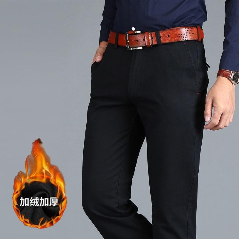 HTB12IbIXEvrK1RjSspcq6zzSXXaH VOMINT Mens Pants High Quality Cotton Casual Pants Stretch male trousers man long Straight 4 color Plus size pant suit 42 44 46