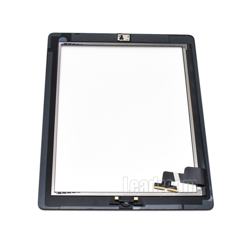 10pcs Free DHL Tablet Touch Screen Digitizer for IPad 2 3 4 includes Home Button Sticker