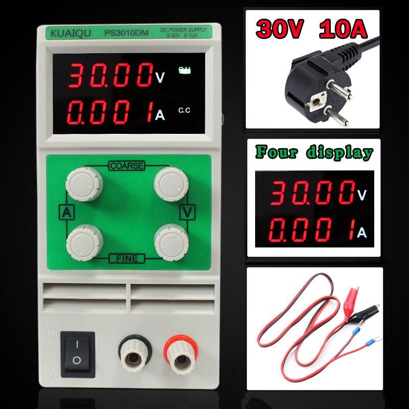 30 V 5A Mini ajustable fuente de alimentación de CC de laboratorio de la fuente de alimentación digital regulador de voltaje Variable 30 V 10A cuatro pantalla PS3010DM