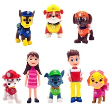 8 Pcs Set Patrol Puppy Dog Toy Childrens Anime Action Figure Toy Mini Figures Patrol Dog