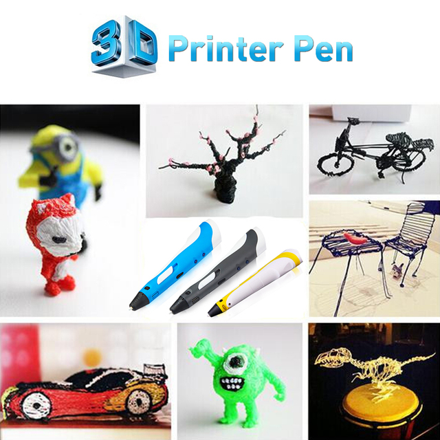 New Design High Quality Creative 3D Printing Pen with Free Filament 3D Pen Best Gift for Kids Printer Pens