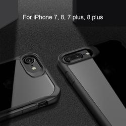 For iphone 8 Case Iphone 8 plus Case Luxury Silicone Frame + Acrylic Transparent Back Cover Case For iPhone 8 7 7 plus 4