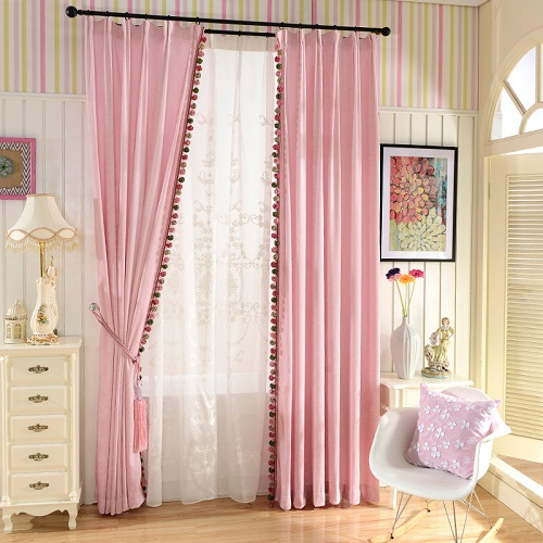 On sales high quality fashion style many colors valance and curtain ...
