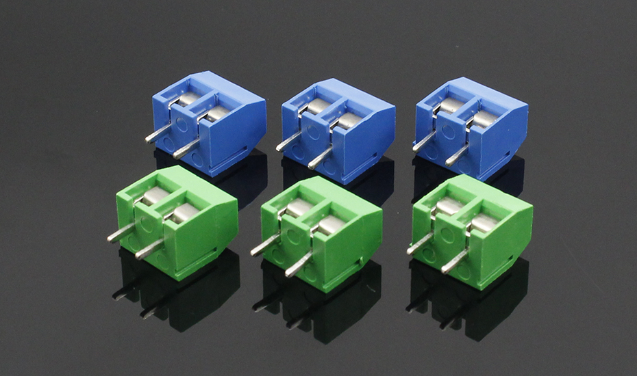 HTB12IcMnN9YBuNjy0Ffq6xIsVXa2 - 20PCS/LOT KF301-2P KF301-5.0-2P KF301 Screw 2Pin 5.0mm Straight Pin PCB Screw Terminal Block Connector Blue and green