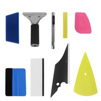 8 In 1 Car Foil Scraper Tools Squeegee Car Window Tinting Auto Film Install Wrapping Applicator