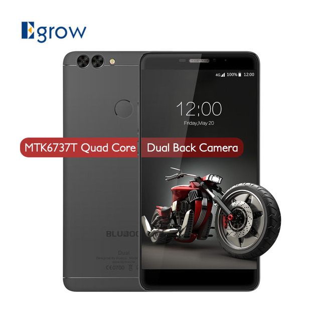 Original Bluboo Dual MTK6737T Quad Core Android 6.0 5.5 Inch 2G RAM 16G ROM 13.0MP+2.0MP Dual Back Camera Fingerprint Smartphone