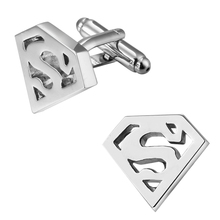 Hot selling high quality brass. As the super hero Superman Cufflinks Wedding gift brand men shirt cuff Cufflinks