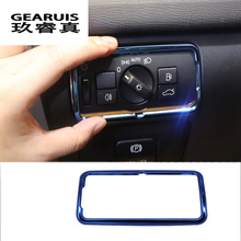 Car Headlight Trim Stickers cover For Volvo XC60 V40 V60 S80 Blue Stainless Steel Headlamp Cover 2009-2017 Styling