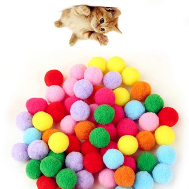 10-100 pezzi/lotto Morbido Gatto Palle giocattolo Giocattoli Gattino di colore D