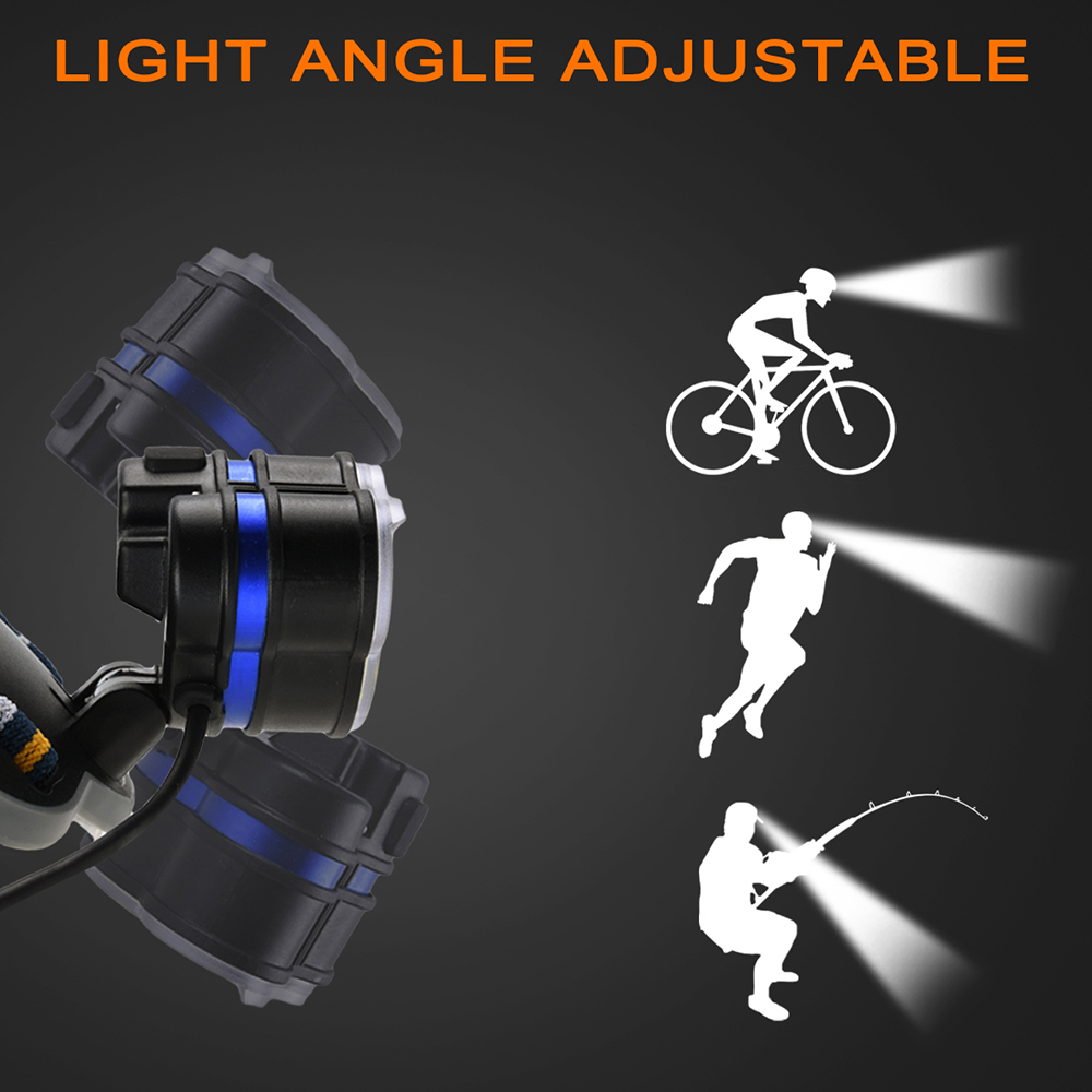 Купить с кэшбэком LED Headlamp LED Torch Light Outdoor Camping Fishing Headlight Flashlight Head Lamp D25