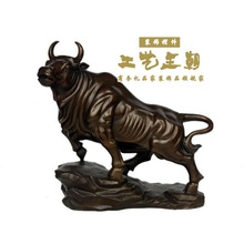Dynasty topnew decoration accessories home accessories crafts cow decoration brass factory OX Pure Brass statue