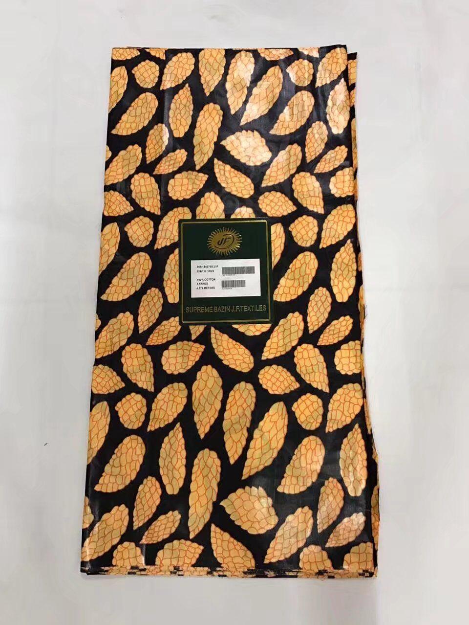 100 % cotton Beautiful design prints supreme bazin riche textiles 5 yards High quality multicolor jacquard brocade fabric!O-1103 ...