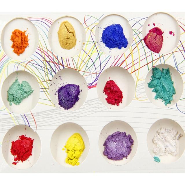 10g perle poudre bricolage moelleux Slime fournitures Kit paillettes poudre décoration pour accessoires de remplissage colorant Multiple cristal boue