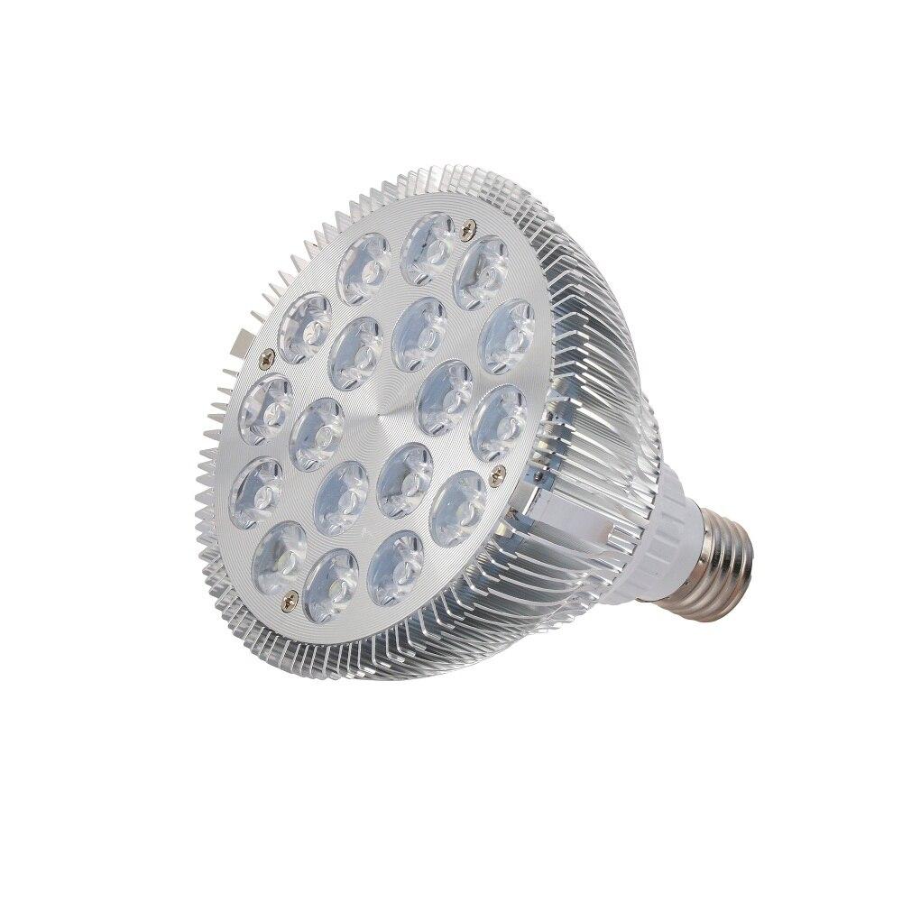 1X E27 54W چراغ های رشد چراغ آکواریوم نور 18x3W مرجانی صخره های سفید آبی آبی مخزن استخر رشد لامپ لامپ