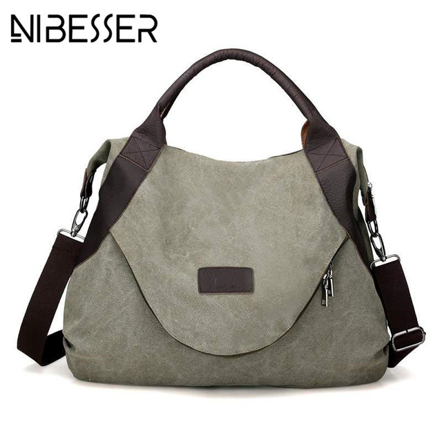 NIBESSER Original Fashion Woman Canvas Bags Large Capacity Casual Female  Messenger Bag bolsos mujer Vintage Ladies Crossbody Bag 2d3918392f4c3