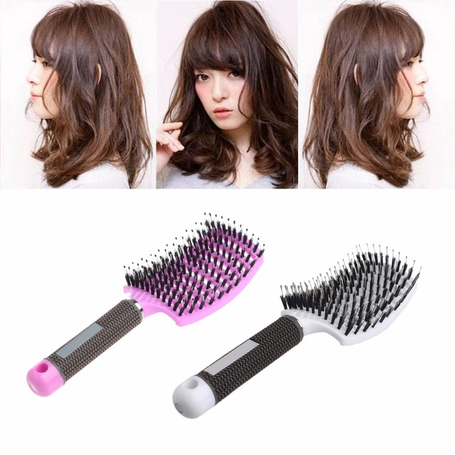 Hairbrush Bristle Nylon Comb Hair Scalp Massage Salon Hairdressing Styling Tools