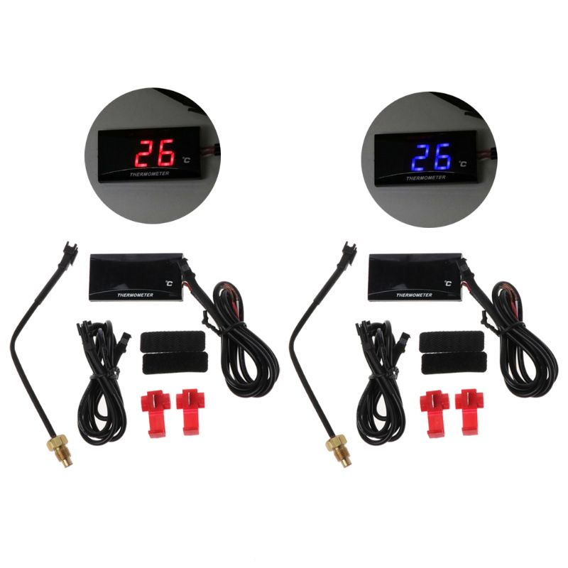 Universal Motorcycle LCD Digital Thermometer Instrument Water Temp Meter Gauge For  KOSO Yamaha Racing Scooter  qiang-in Instruments from Automobiles & Motorcycles