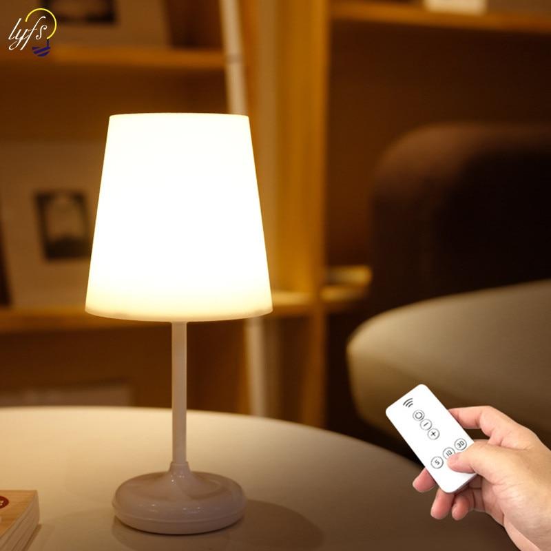 Lámpara de escritorio LED para lectura de ojos con carga USB regulable táctil con lámpara de mesa de Control remoto para iluminación de luces nocturnas