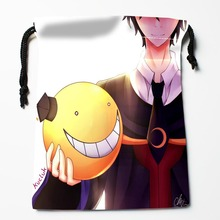 New Arrive Assassination Classroom Drawstring Bags Custom Storage Bags Printed gift bags More Size 27x35cm DIY your picture