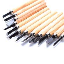 Hot 12pcs/Set Wood Carving Chisels Knife For Basic Wood Cut