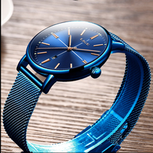 2019 LIGE Mens Watches Top Brand Luxury Quartz Watch Men Casual Ultra-Thin Mesh With Calendar Dial Waterproof Watch Reloj Hombre ultra thin dial business men quartz watch with alloy mesh band black and white dial with date display men s luxury wrist watches